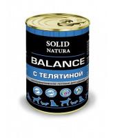 Solid Natura Balance консервы для щенков Телятина 340г