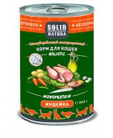 Solid Natura Holistic консервы для кошек Индейка, банка