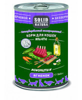 Solid Natura Holistic консервы для кошек Ягнёнок, банка