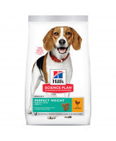HILL'S Science Plan Medium Perfect Weight корм для собак Идеальный вес, с курицей 12кг