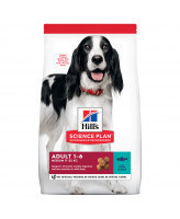 HILL'S Science Plan Medium Adult корм для собак средних пород, тунец с рисом