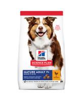 HILL'S Science Plan Medium Mature Adult 7+ корм для собак средних пор 7+, с курицей 12кг