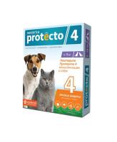 Neoterica Protecto Капли на холку от блох и клещей для собак и кошек весом 4-10кг, 2 пипетки