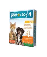 Neoterica Protecto Капли на холку от блох и клещей для собак, кошек и кроликов до 4кг, 2 пипетки