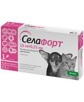 Селафорт капли инсектоакарицидные для кошек и собак менее 2,5кг 1пипетка*0,25мл 15мг