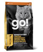 GO! SENSITIVITIES Беззерновой корм для котят и кошек с чувствительным пищеварением с Уткой