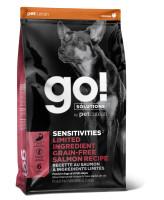 GO! SENSITIVITIES Корм беззерновой для щенков и собак с Лососем для чувствит. пищеварения
