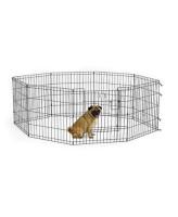 MidWest Вольер для животных Life Stages с дверью-MAXLock, 8 панелей 61х61h см, черный