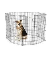 MidWest Вольер для животных Life Stages с дверью-MAXLock, 8 панелей 61х122h см, черный