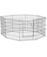 MidWest Вольер для животных Life Stages с дверью-MAXLock, 8 панелей 61х76h см, черный