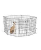 MidWest Вольер для животных Life Stages с дверью-MAXLock, 8 панелей 61х91h см, черный