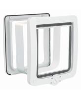 Trixie Дверца для кошки 4-Way с туннелем, XL 24 х 28 см, белая