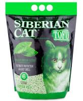 Сибирская кошка Комкующийся наполнитель Тофу Зеленый чай 6л 2,8кг