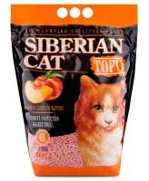 Сибирская кошка Комкующийся наполнитель Тофу  Персик 6л 2,8кг