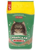 Сибирская кошка Древесный наполнитель Лесной