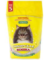 Сибирская кошка Комкующийся наполнитель Ультра
