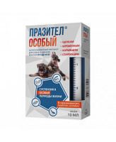 ПРАЗИТЕЛ ОСОБЫЙ антигельминтик для собак от 5 до 25кг старше 6 лет 20мл