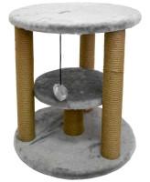 Домик-когтеточка Zooexpress Круглый с гамаком, мех однотонный, джут 50*50*55 см