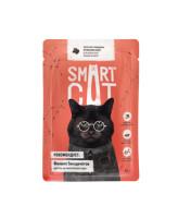 Smart Cat консервы для кошек и котят Кусочки говядины в нежном соусе, 85г пауч