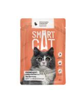 Smart Cat консервы для кошек и котят Кусочки индейки в нежном соусе, 85г пауч