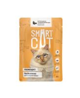 Smart Cat консервы для кошек и котят Кусочки курочки с тыквой в нежном соусе, 85г пауч