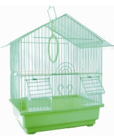 №1 Клетка для птиц домик, укомплектованная 30*23*39см