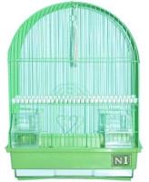 №1 Клетка для птиц овальная, укомплектованная 30*23*39см