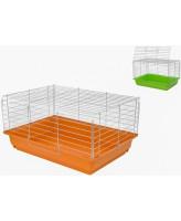 Дарэлл Клетка для кроликов и морских свинок 4166 ECO Роджер-1 хром, складная 58*40*30см разные цвета