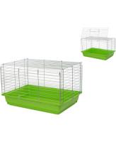 Дарэлл Клетка для кроликов и морских свинок 4170 ECO Роджер-2 хром, складная 58*40*38см разные цвета