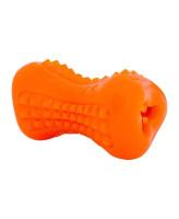 Rogz Кость из резины с массажными насечкми YUMZ оранжевая