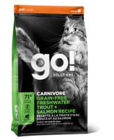 GO! CARNIVORE Беззерновой корм для котят и кошек с чувствительным пищеварением Форель, Лосось