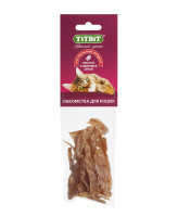 TiTBiT Лакомство для кошек Филе куриное (соломка)