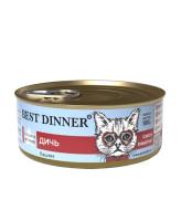 """Best Dinner Exclusive """"Дичь"""" консервы для  кошек с чувствительным пищеварением 100г банка"""