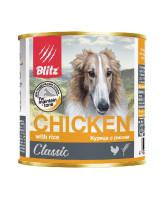 Blitz Classic Консервы для собак всех возрастов с курицей и рисом 750г