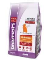 Gemon Cat Hairball корм для выведение шерсти для кошек с курицей и рисом 400г