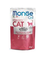 Monge Cat Grill Pouch консервы для стерилизованных кошек Итальянская телятина 85г пауч