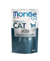 Monge Cat Grill Pouch консервы для стерилизованных кошек Итальянская форель 85г пауч