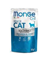 Monge Cat Grill Pouch консервы для пожилых кошек Эквадорская макрель 85г пауч