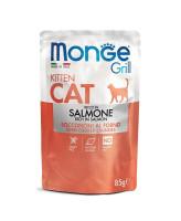 Monge Cat Grill Pouch консервы для котят Норвежский лосось 85г пауч