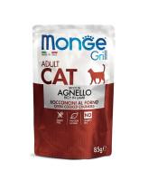 Monge Cat Grill Pouch консервы для кошек Новозеландский ягненок 85г пауч