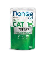 Monge Cat Grill Pouch консервы для кошек Итальянский кролик 85г пауч