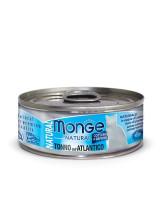 Monge Cat Natural консервы для кошек атлантический тунец 80г банка