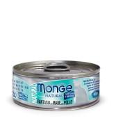 Monge Cat Natural консервы для кошек морепродукты с курицей 80г банка