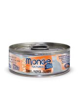 Monge Cat Natural консервы для кошек тихоокеанский тунец с лососем 80г банка