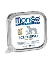 Monge Dog Monoprotein Solo консервы для собак паштет из оленины 150г