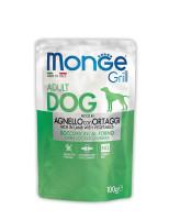 Monge Dog Grill Pouch паучи для собак Ягненок с овощами 100г