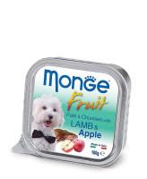 Monge Dog Fruit консервы для собак ягненок с яблоком 100г