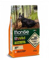 Monge Dog BWild Grain Free беззерновой корм для собак мелких пород Утка с картофелем 2,5кг