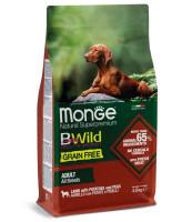 Monge Dog BWild Grain Free беззерновой корм для собак всех пород Ягненок с картофелем