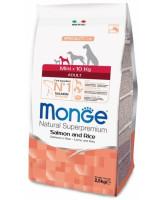 Monge Dog Speciality Mini корм для собак мелких пород Лосось с рисом